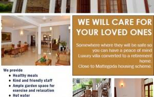 eLanka | Retirement Villa (Mattegoda, Sri Lanka) – We Care For Your Loved Ones!