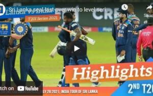 Watch Cricket T20 International Highlights – Sri Lanka vs India – July 2021